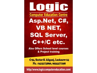 Logic Computer Education offers C,Aspnet, Sql Server, python,php etc